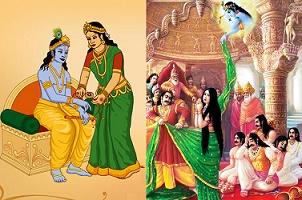 shri-krishna-and-draupadi-rakhi